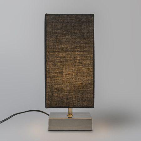 Lampa stołowa Milo kwadratowa, czarna