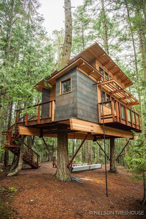 Daryl  designed this ELEGANT treehouse on the san Juan Islands