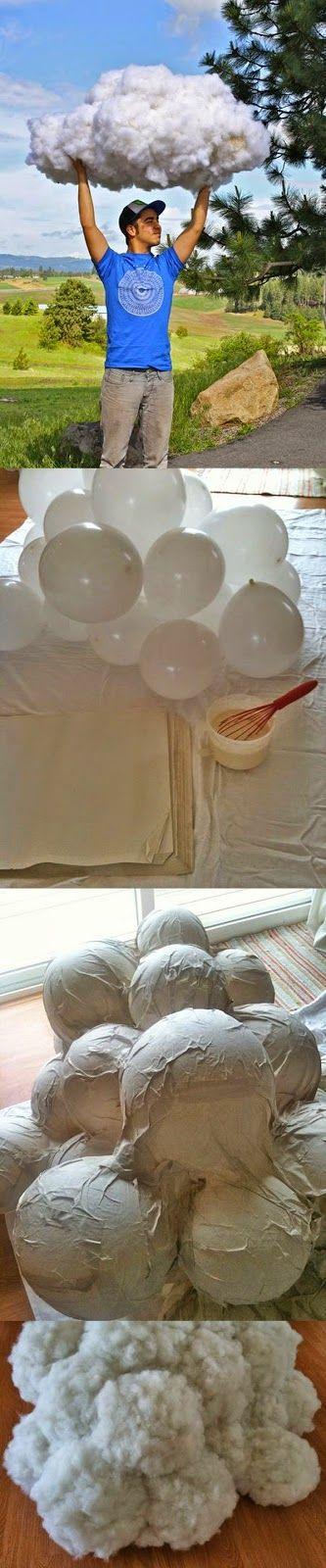 http://minikportakal.blogspot.com.tr  MiNiK PoRTaKaL: Balonlardan Gerçekmiş Gibi Bulut Yapımı