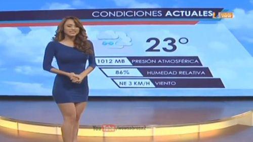 """Moça do tempo sensual """"eleva a temperatura"""" na TV mexicana #Apresentadora, #Brasil, #Fotos, #Instagram, #Nacional, #Novidade, #Televisa, #True, #Tv http://popzone.tv/moca-do-tempo-sensual-eleva-a-temperatura-na-tv-mexicana/"""