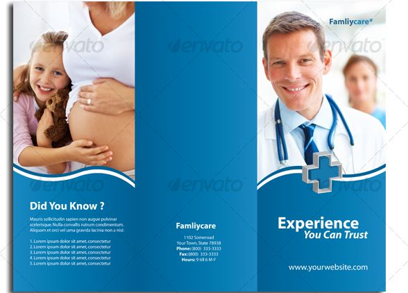 14 best brochures images on Pinterest Brochures, Editorial - hospital flyer template