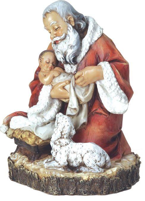 7 best santa kneeling to baby jesus images on pinterest