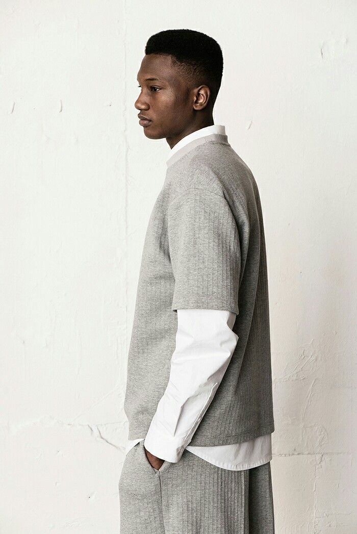 BERKHAN LIFE STYLE blackman blackmen nigga swag GREY cloth and white shirt