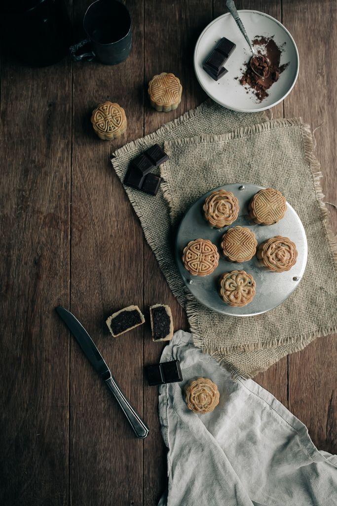 Chocolate and Lotus Seed Mini-Mooncakes