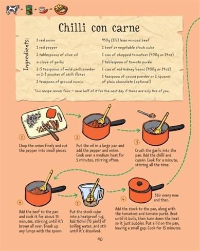Usborne See Inside: Cookbook for boys