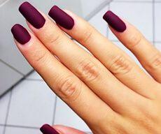 Матовые ногти фото фиолетовые