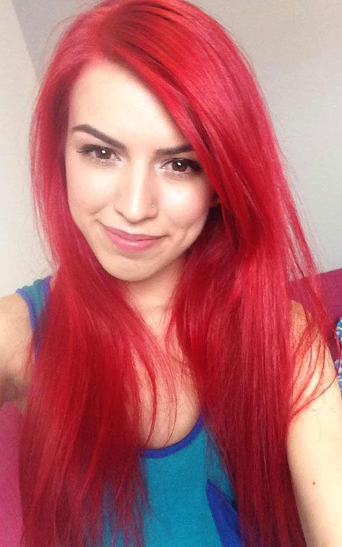 17 best ideas about bright red hairstyles on pinterest
