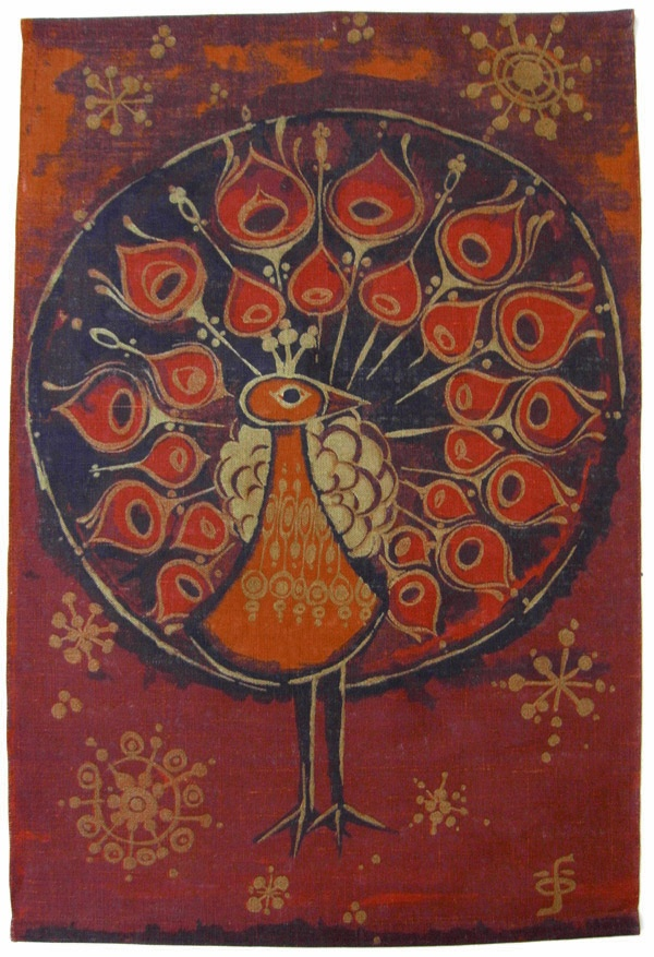vintage peacock batik