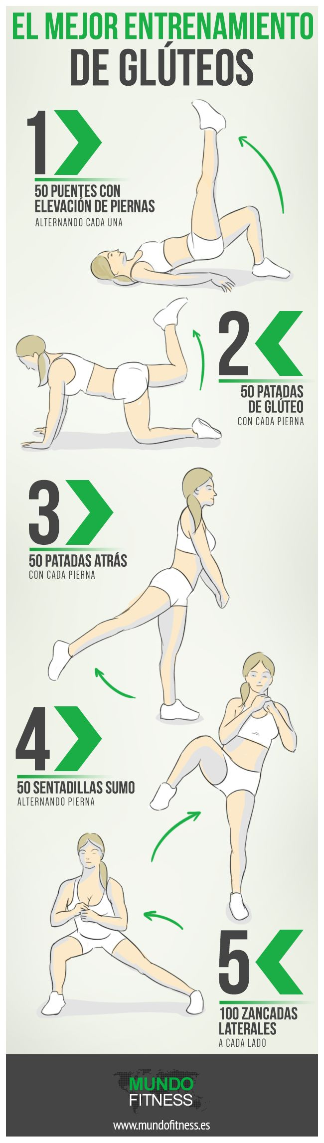 Ejercicios para trabajar glúteos.#fitness #deporte #glúteos