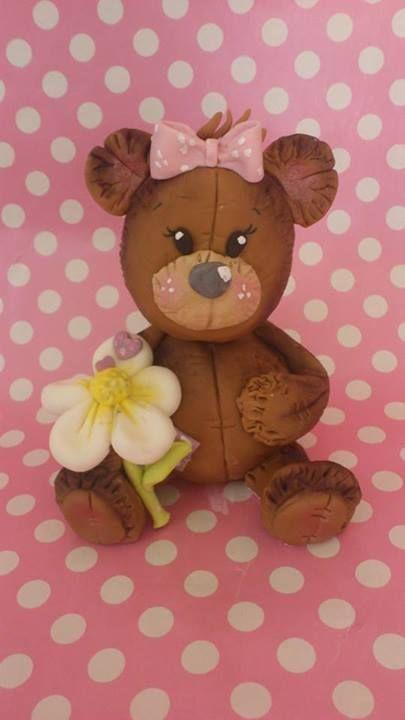Gum paste figurines, bear