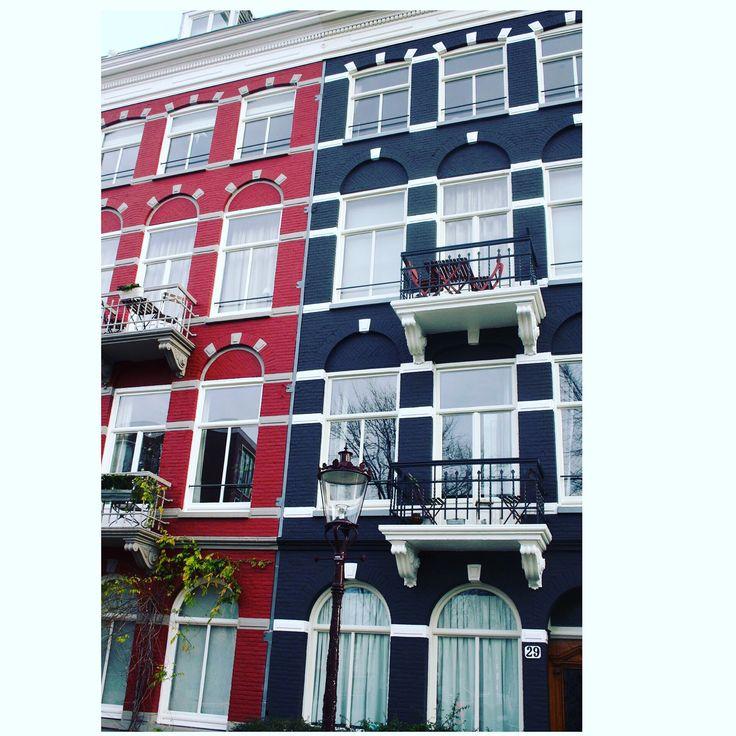 Amsterdam beautiful mirror Houses #amsterdam #houses #black #red #windows