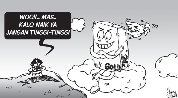 Opini-04September2012-Harga emas naik. #sketch #illustration #drawing