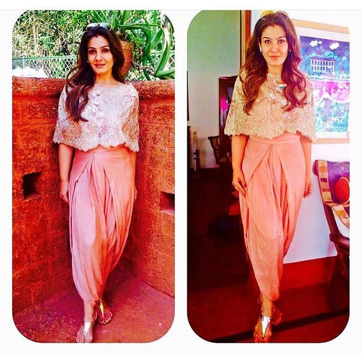 """#Raveenatandon the actress of yester years wears a #Chantelle #lace top with…"