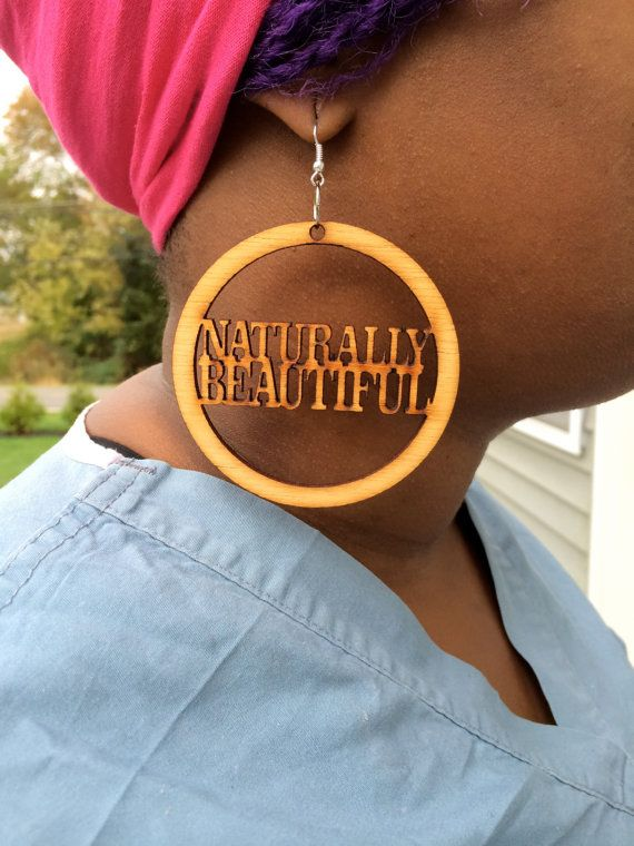 afrocentric handcrafted wood earrings by