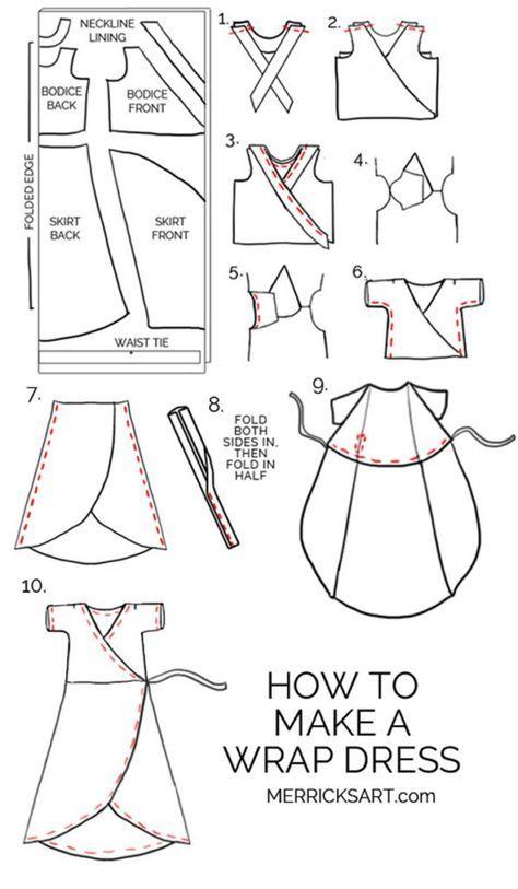 How to make a wrap dress | merricksart.com