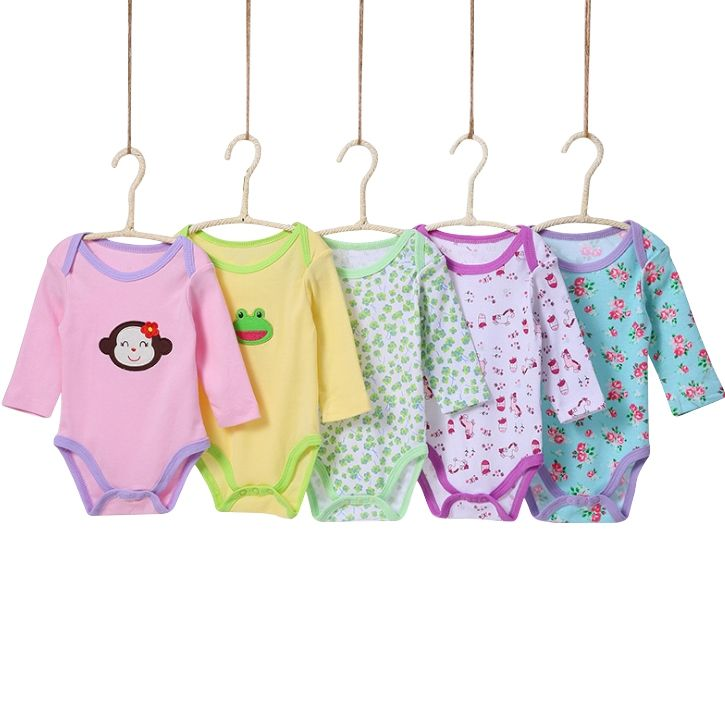 Cootton Clothes 5 Pieces/Packs Newborn Baby Bodysuits 0-24m Cute Lovely Baby Wear Toddler Underwear Infant Clothing Baby Outfit