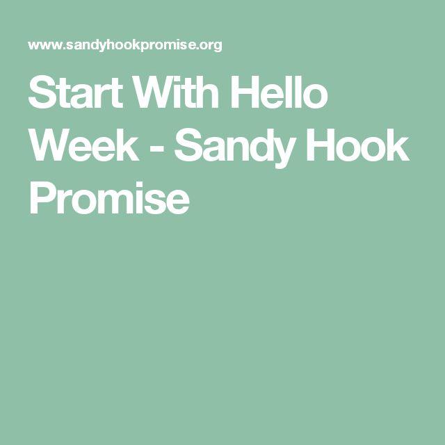 Start With Hello Week - Sandy Hook Promise
