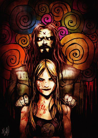 Rob Zombie and his wife, Sheri Moon Z.