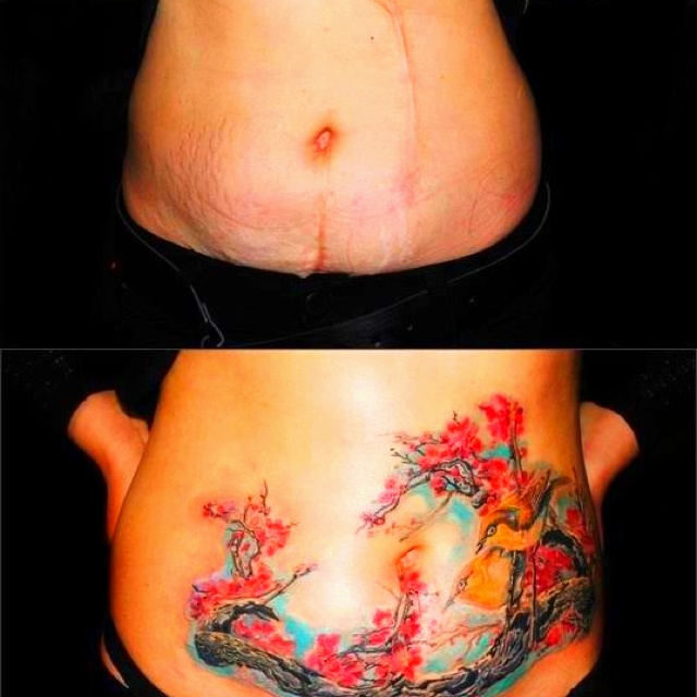55 best images about cover up tattoo on pinterest for Stretch marks tattoo cover up