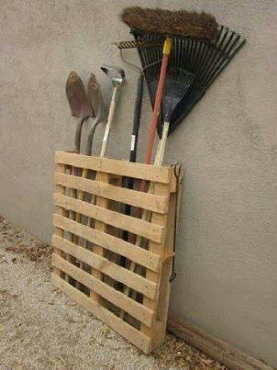 .garden tool storage