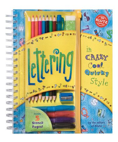 This Lettering Activity Book is perfect! #zulilyfinds