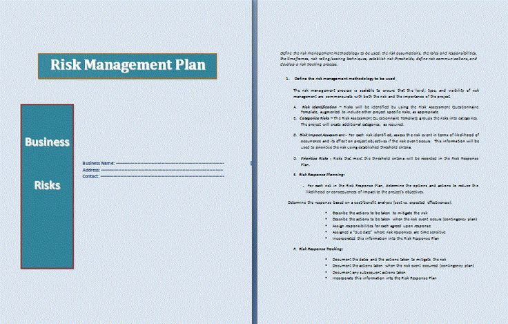 risk management plan | Risk Management Plan Template | Professional Word Templates