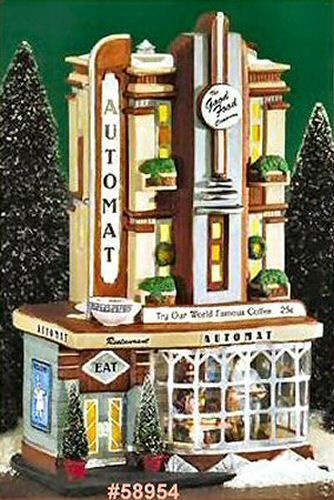 Clark Street Automat NEW Department Dept. 56 Christmas In The City Village CIC