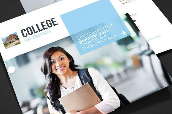 College \ University Tri Fold Brochure Template school - sample college brochure