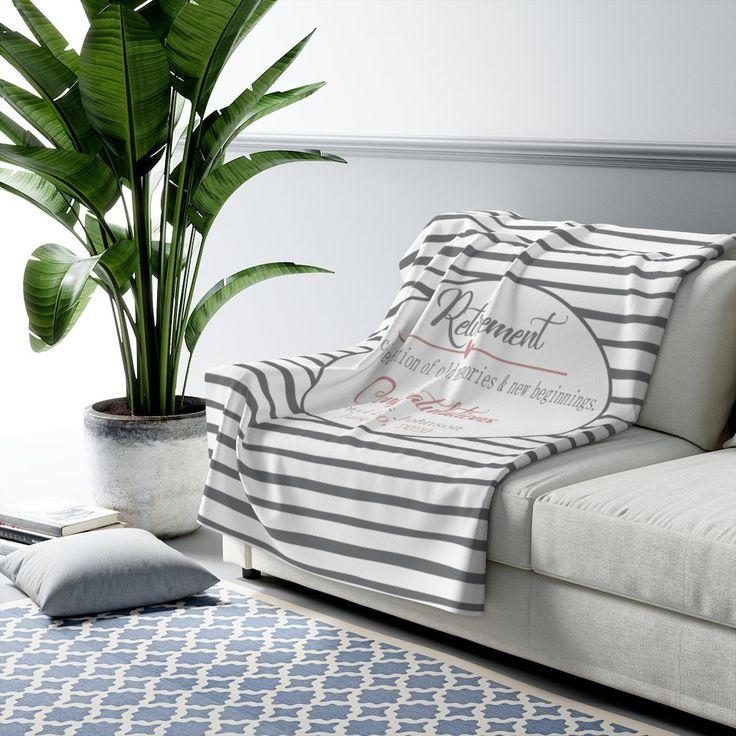 Personalized retirement blanket retirement gift etsy in