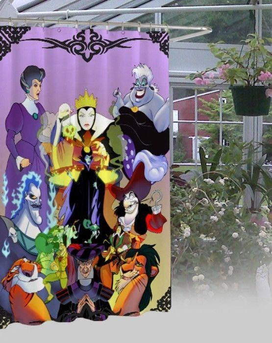 "New Disney Maleficent Design Waterproof High Quality Shower Curtain 60"" x 72"" #Unbranded #Modern"
