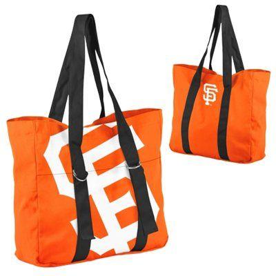 San Francisco Giants Ladies Big Logo Tote - Orange/Black