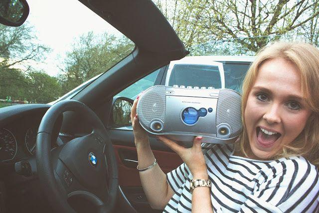 Mini boombox for the drive in cinema @ #alexandrapalace in #london                 #boombox