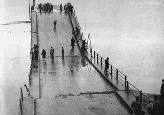 Puente viejo en Concepción destruido en el terremoto de 1960.