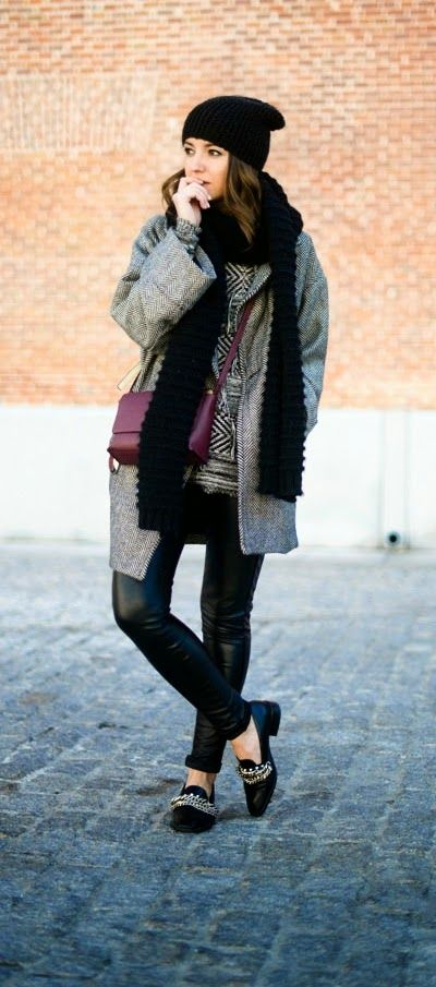 Black and Grey Oversized Fabulous Street Outfits by Lovely Pepa