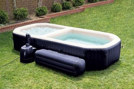 Walmart Blow Up Hot Tub: Intex All in One Hot Tub and Pool