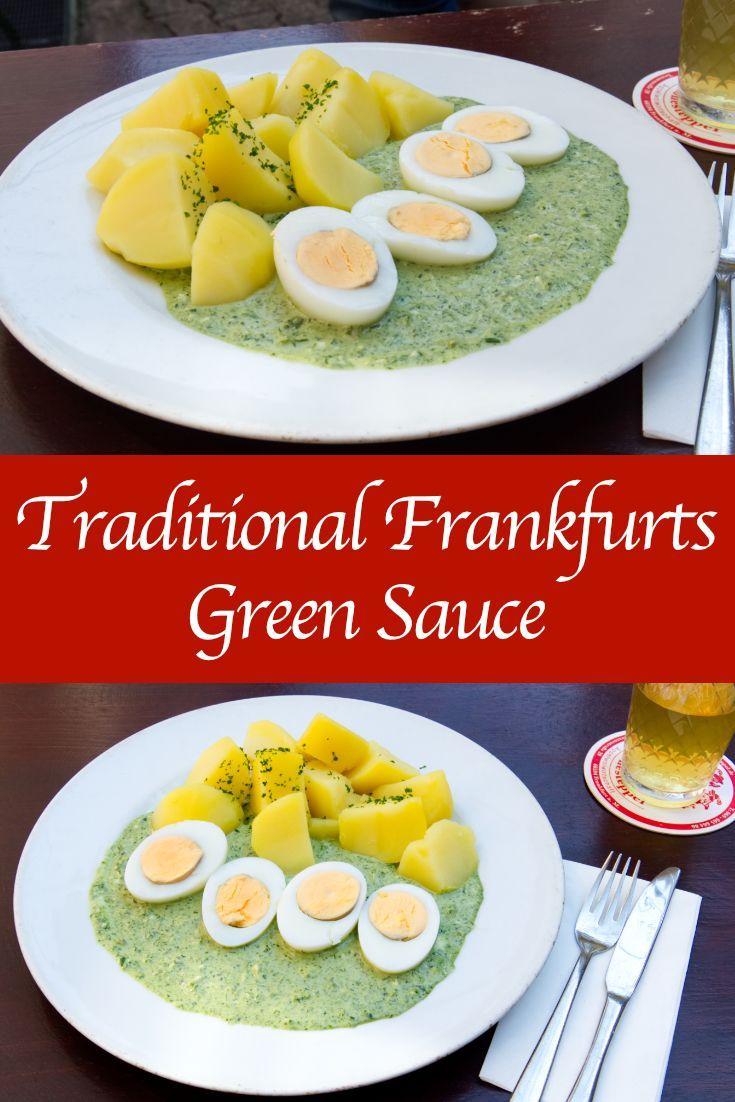 Frankfurter Grune Sosse Frankfurter Grune Sosse Rezept Deutsche Kuche Ist German Green Sauce Recipe Green Sauce Food