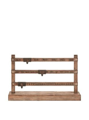 50% OFF Wooden Day/Month/Date Display Calendar