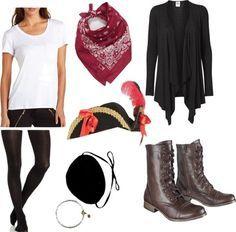 Disfraz casero de pirata, encuentra más opciones en disfraces caseros para este Halloween aquí..http://www.1001consejos.com/8-sencillos-disfraces-caseros-para-mujer/
