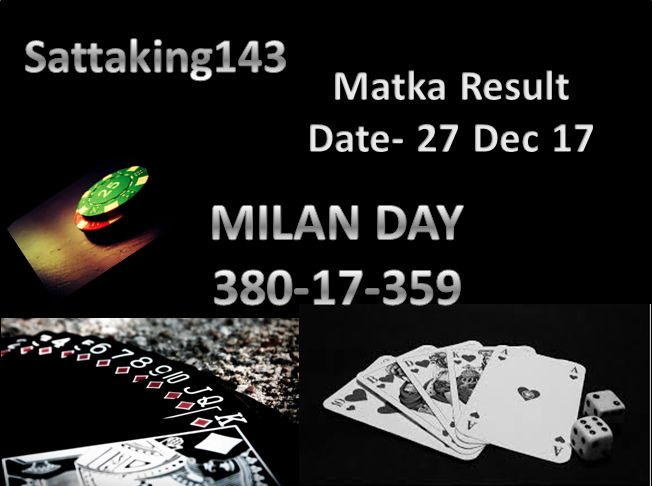 Date - 27 Dec 2017  MLAN DAY CLOSE #satta #matka #sattaking its lucky result for you just chess your luck and play