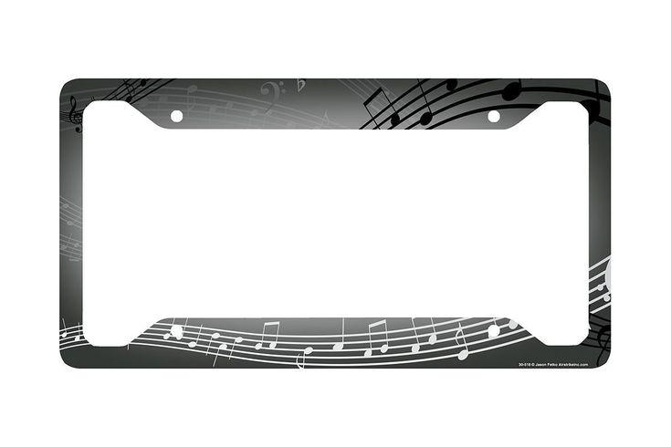 Airstrike® Music License Plate Frame, Music Car Tag Frame, Music License Plate Holder, Music Notes Decorative License Plate Frame-30-518