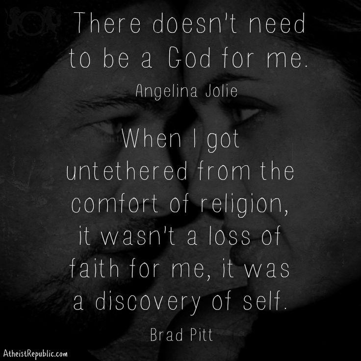Angelina Jolie and Brad Pitt on Faith and Atheism