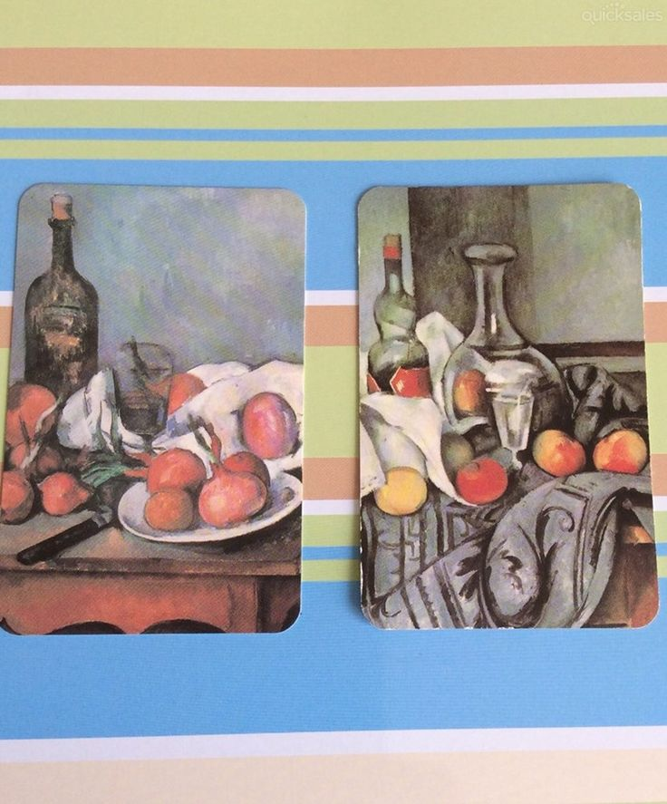 2 x different Cezanne still life painting playing cards / swap cards *FREE POST* by tassiesingers_collectables - $2.00