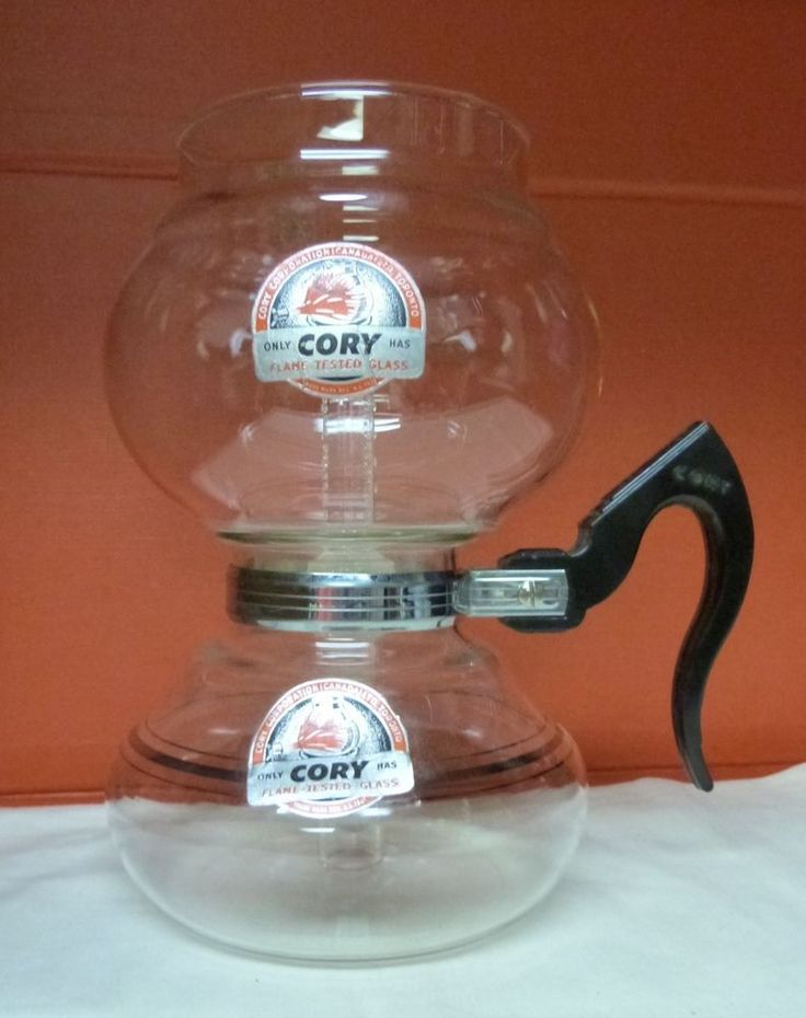 VINTAGE Vacuum CORY COFFEE  Maker DNL DNU  HANDLE GLASS FILTER NOS