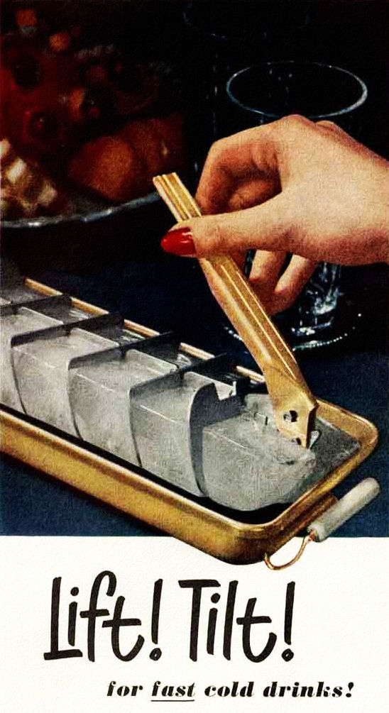 We used this type of ice cube tray for years