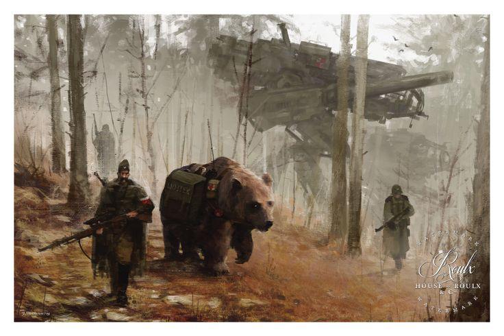 """""""1920 - Into the Wild"""" by Jakub 'Mr. Werewolf' Rozalski - Fine Art Pri - House of Roulx"""