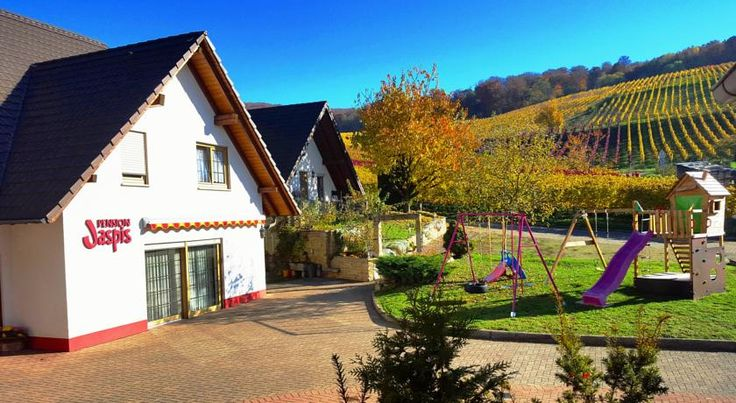 Pension Jaspis Pfaffenweiler This guest house is set in the old wine-producing village of Pfaffenweiler, only 10 km from the Black Forest town of Freiburg.  The Pension Jaspis is a cosy base for excursions amid the picturesque forests and vineyards of the Markgräflerland region.