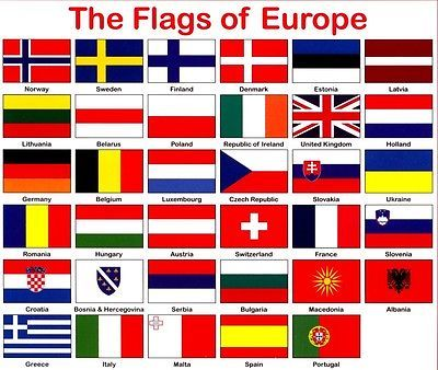 europe flag european flags 3ft x 2ft 60 x 90 cm 100. Black Bedroom Furniture Sets. Home Design Ideas