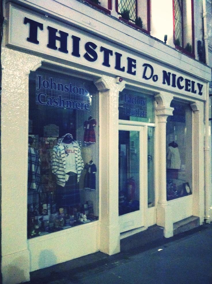 'Thistle Do Nicely', kilt and clothing shop - Edinburgh, UK #PBperfectsaturday with @Caitlin Flemming and @Poppy Barley