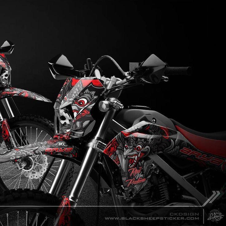 "Decal kit new klx bf ""Garuda & rangda""    #kawasaki #kawasakiklx #klxbf #supermoto #decal #mockup #garuda #rangda #balimask #decalsticker #orajet #vector #highresolution #blacksheepstickart #banyuwangi & follow Instagram kami  @ckdsign"