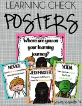 STAR WARS Learning Check Posters